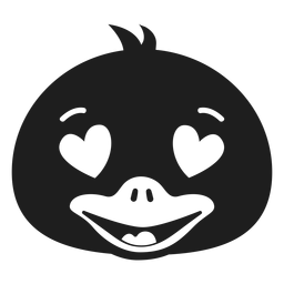 Pato apaixonado cabeça focinho