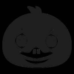 Pato alegre hocico golpe de cabeza