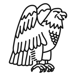 Eagle talon wing tattoo stroke