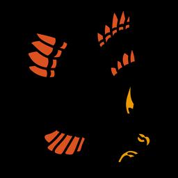 Asa de águia colorida tatuagem colorida