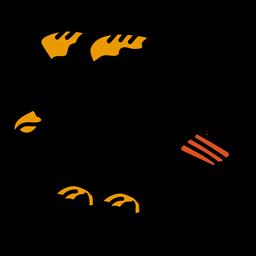 Eagle wing coloured colored tattoo stroke