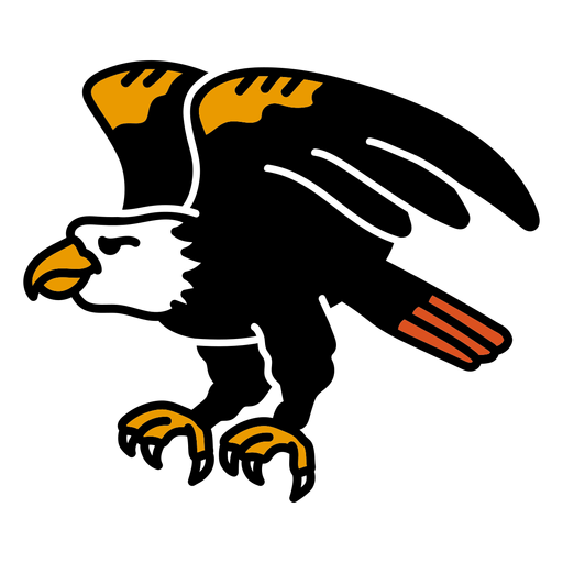 Asa de águia colorida tatuagem colorida Transparent PNG