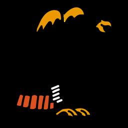 Trazo del tatuaje de color de la garra del ala del águila