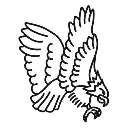 Eagle wing tattoo stroke