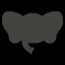 Elefant wütend Kopf Schnauze flach
