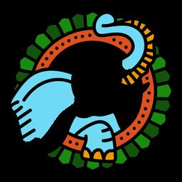 Trazo de tatuaje de color de color elefante