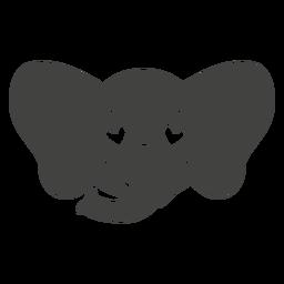 Bozal de cabeza de elefante enamorado plano