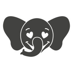 Elephant enamoured head muzzle flat