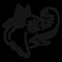 Elefant Blume Tattoo Schlaganfall