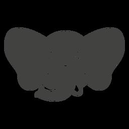 Elefant glücklich Kopf Schnauze flach