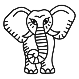 Elephant trunk tattoo stroke