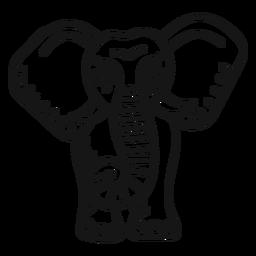Tatuaje de trompa de elefante