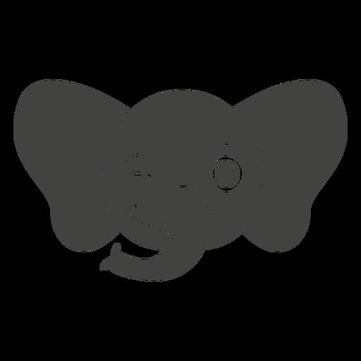 Bozal de cabeza de guiño de elefante plano Transparent PNG