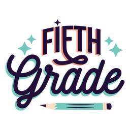 Fifth grade badge sticker