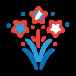 Feuerwerksstrahl-Grußstrahl-Stern-Ausweisaufkleber