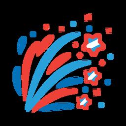 Etiqueta engomada de la insignia del rayo de la estrella del haz del saludo del fuego artificial