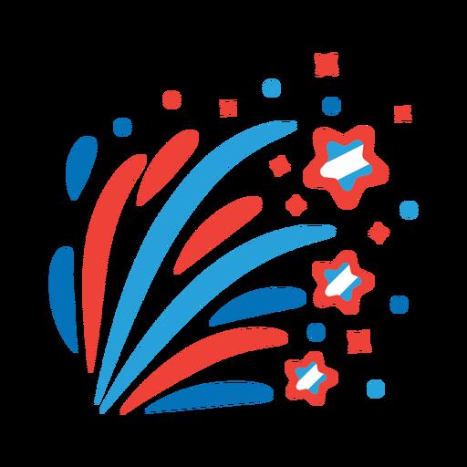 Etiqueta engomada de la insignia del rayo de la estrella del rayo del saludo de los fuegos artificiales