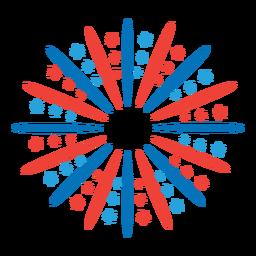 Etiqueta do emblema da estrela do feixe do raio de saudação
