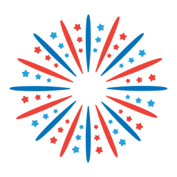 Etiqueta engomada de la insignia de la estrella del rayo de rayos del saludo del fuego artificial