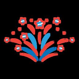 Etiqueta engomada de la insignia del rayo del rayo de la estrella del saludo del fuego artificial