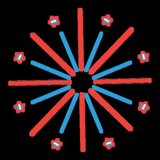 Etiqueta engomada de la insignia del rayo de la estrella del saludo de los fuegos artificiales