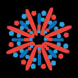 Adesivo de distintivo de raio de feixe de saudação estrela de fogo de artifício