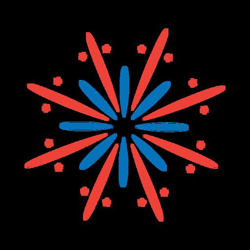 Etiqueta engomada de la insignia del rayo del rayo del saludo de la estrella del fuego artificial