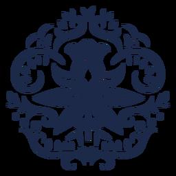 Ilustración de ornamento de diseño de patrón de flores