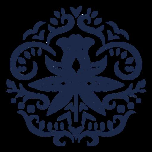 Flower pattern design ornament illustration Transparent PNG