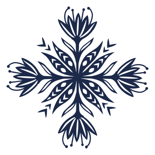 Flower pattern ornament design illustration Transparent PNG