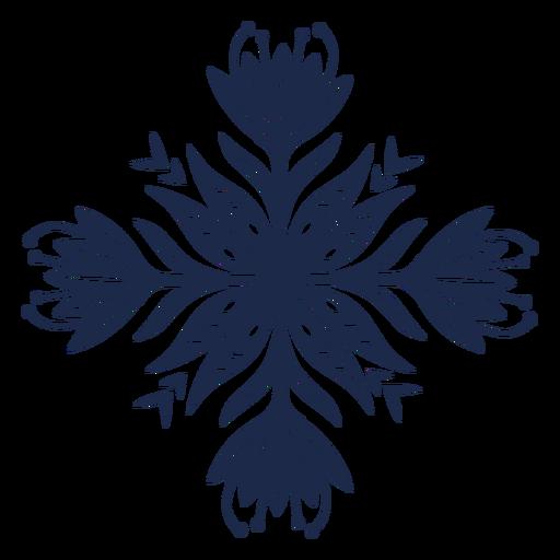 Ilustración de diseño de ornamento de patrón de flores Transparent PNG