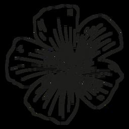 Línea de pétalos de estambre de flores