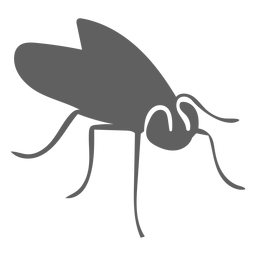Silhueta de antena de asa de mosca