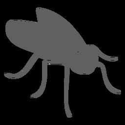 Silueta de antena de ala de mosca