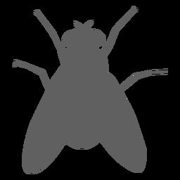 Silueta de palpador de ala de mosca