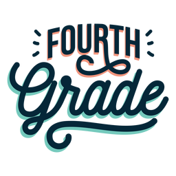 Fourth grade badge sticker