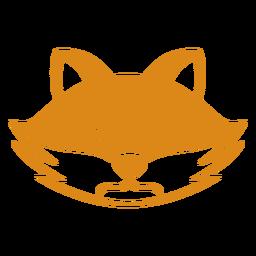 Focinho de cabeça com raiva de raposa plana