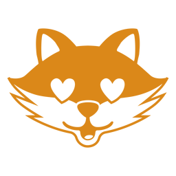 Fox enamorado cabeça focinho plana