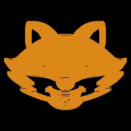 Fox feliz cabeça focinho plana