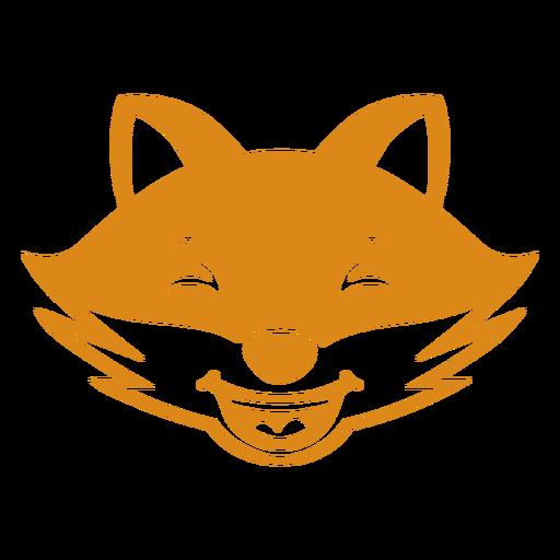 Fox feliz cabeça focinho plana Transparent PNG