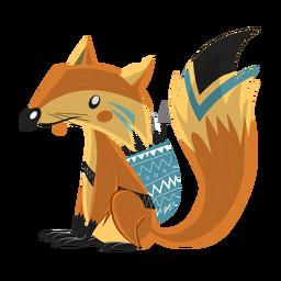 Dibujo de flecha de carcaj de cola de zorro