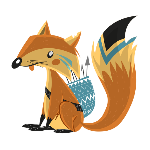 Fox tail quiver arrow sketch Transparent PNG
