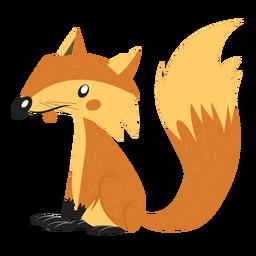 Dibujo de cola de zorro