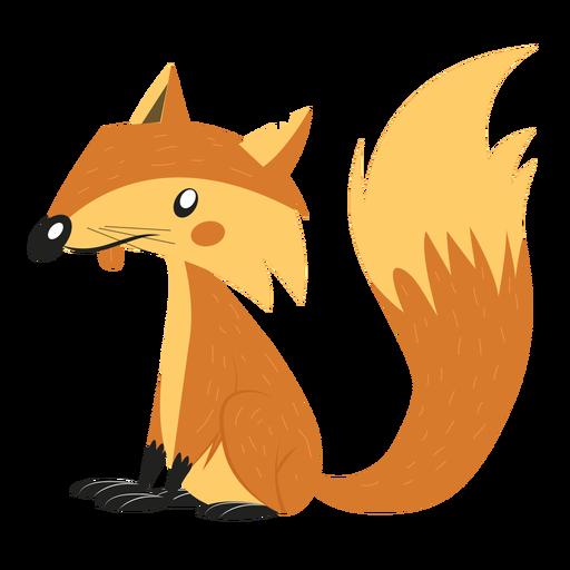 Dibujo de cola de zorro Transparent PNG