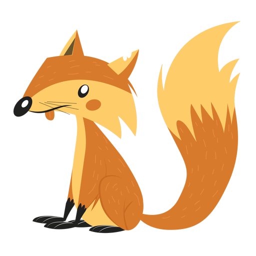 Fox tail sketch Transparent PNG