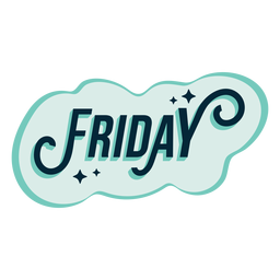 Friday badge sticker