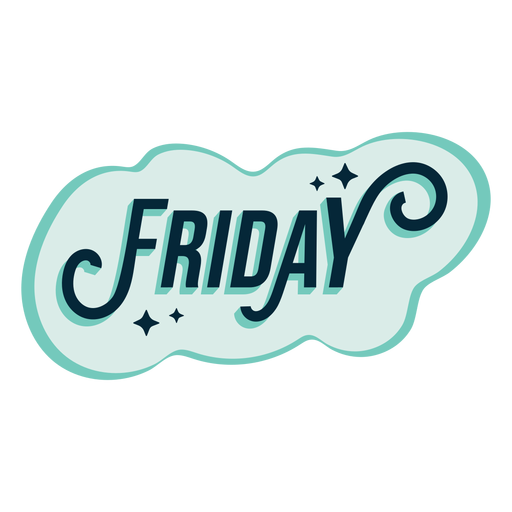 Friday badge sticker Transparent PNG