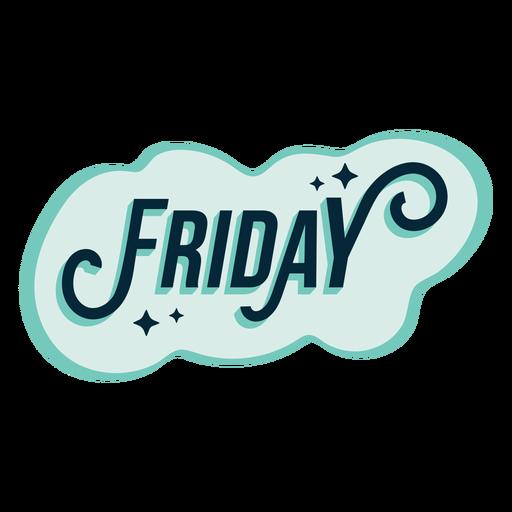 Friday badge sticker