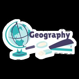Etiqueta engomada de la insignia del globo de la geografía