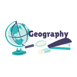 Geography globe badge sticker